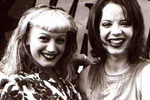 Gwen and Shirley Manson at Weenie Roast '96
