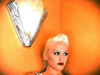 Gwen/ orange background