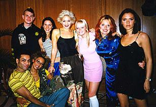 with the Spice Girls